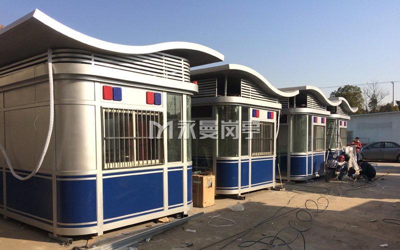 上海火车站公安武警治安岗亭