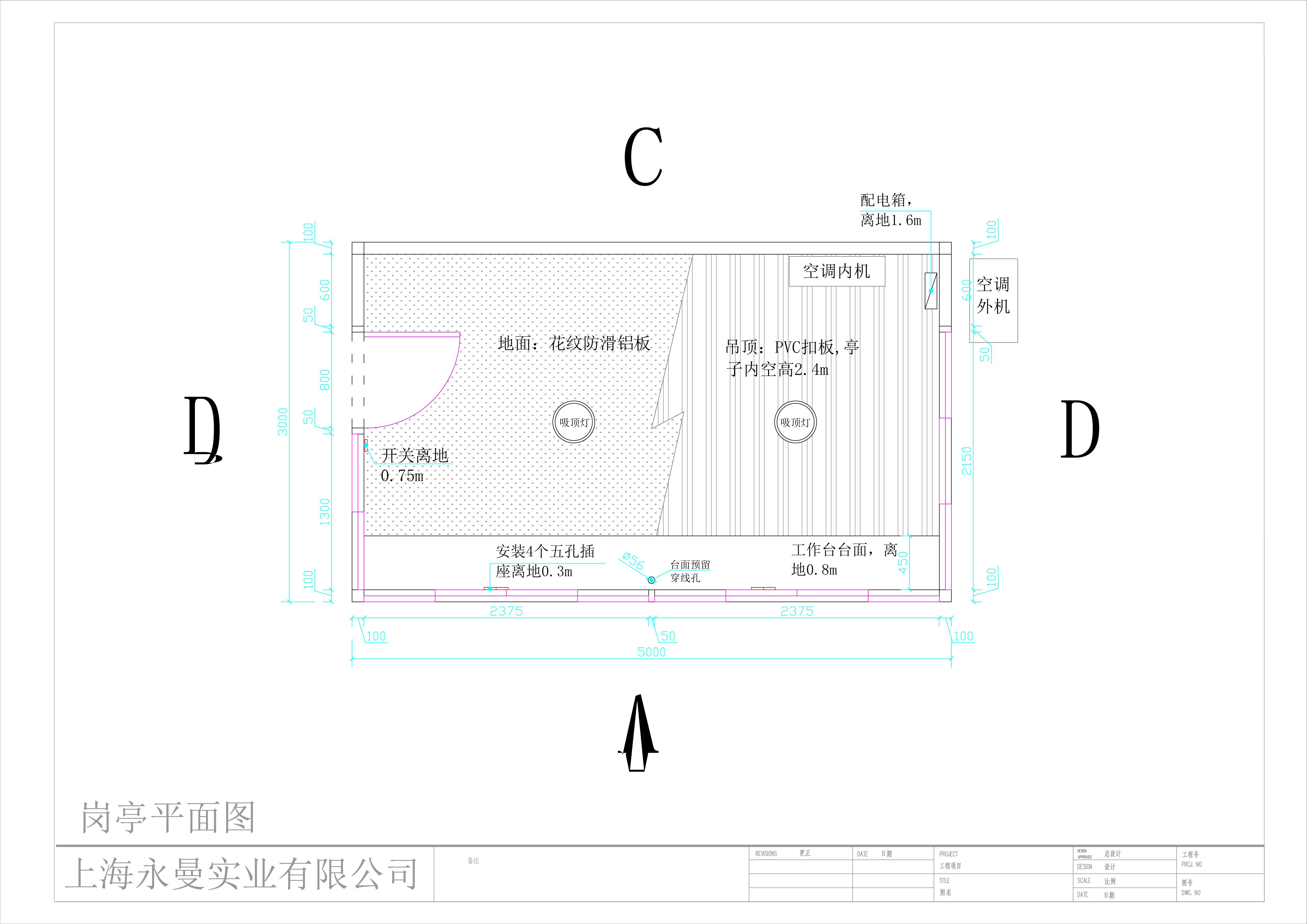 不锈钢岗亭5x3m高3
