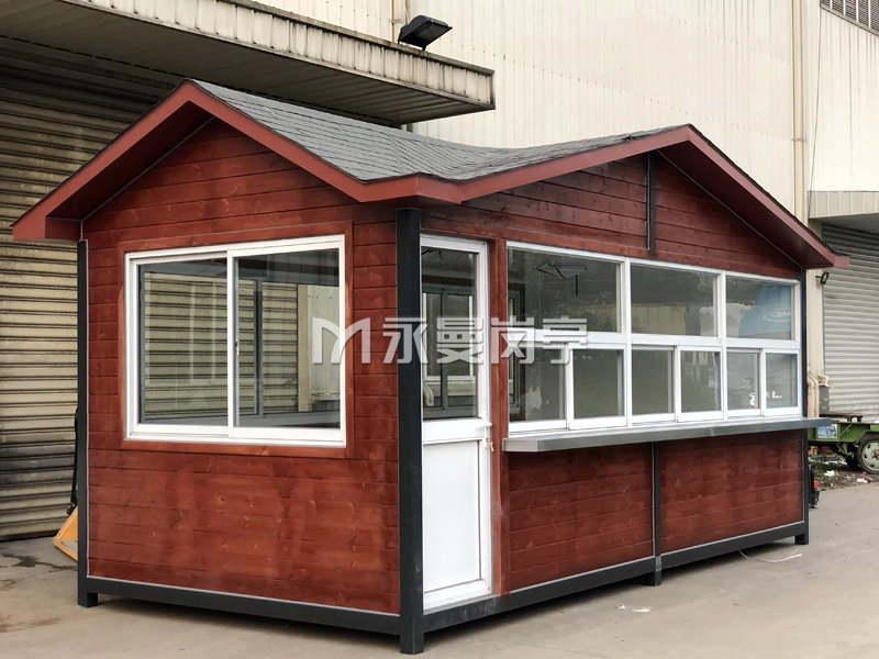 防腐木售货亭款式