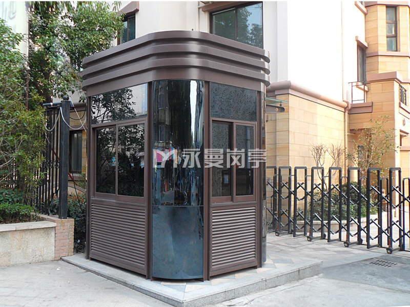 棕色钢结构保安亭