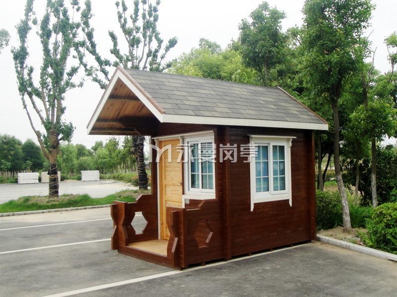 生态防腐木保安岗亭