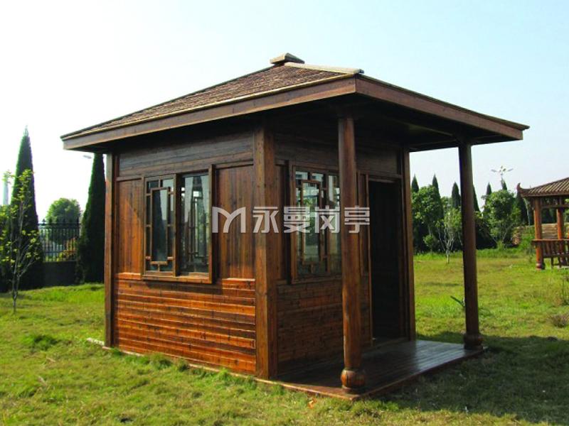 公园防腐木材质小木屋